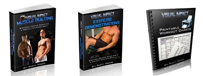 Visual impact muscle building package