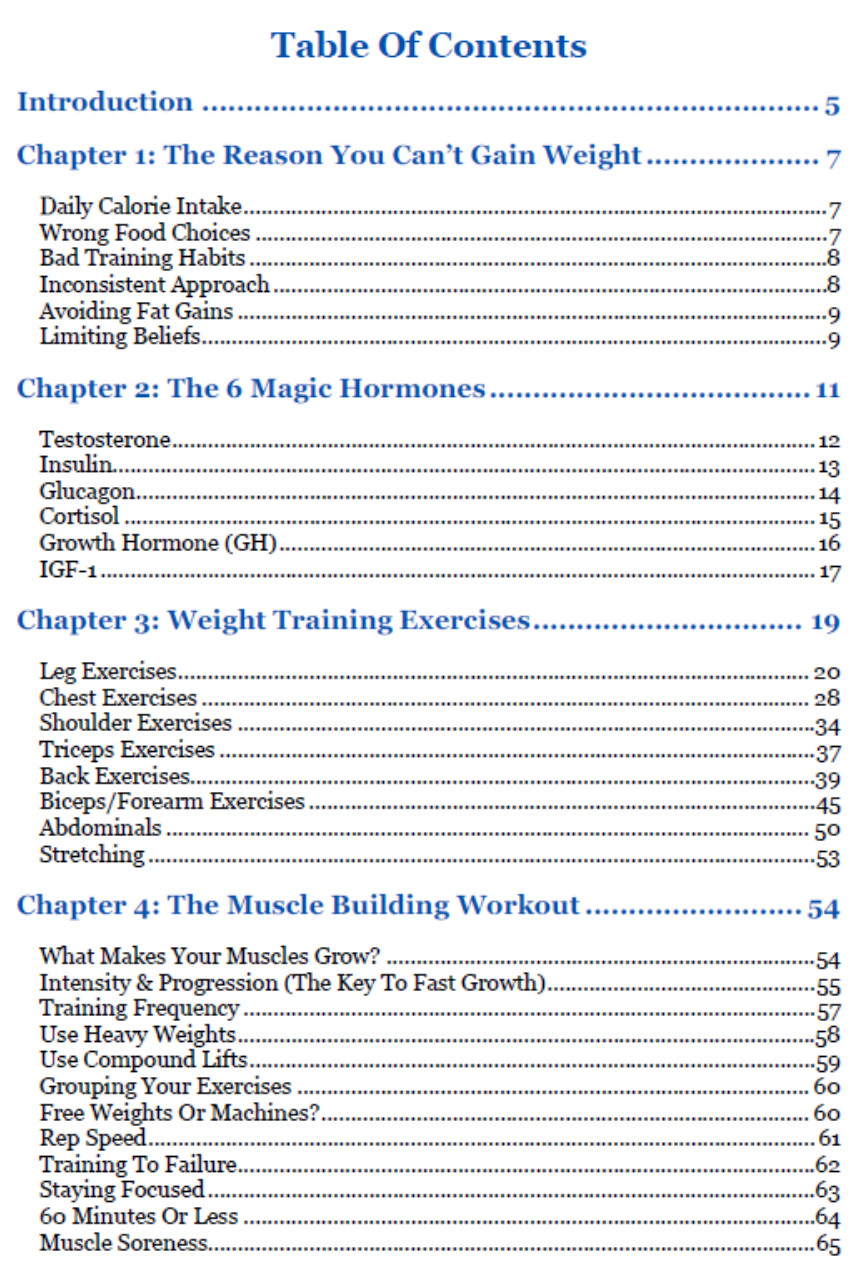 Weight Gain Blueprint Review Ratings