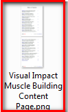 visual impact muscle building content page
